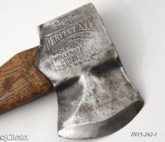 Great Double Embossed Kelly Perfect 1891 1889 Single Bit Axe
