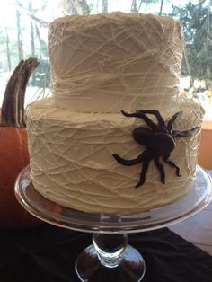 Spider web cake @Jackie Chandler for Colby's next birthday