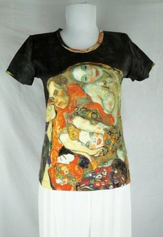 Klimt Adorn The Bride with Veil and Wreath T Shirt Size s New Painting Artsy Top $0.99