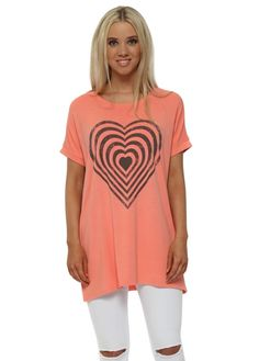SHARE  View All A Postcard From Brighton  View All Tunics & Tops  View All A Postcard From Brighton Tunics & Tops A POSTCARD FROM BRIGHTON Melon Infinity Heart Tank Sweater