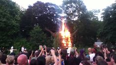 wickermann burning castlefest 2013, lisse, nederland