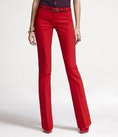 SIGNATURE STRETCH WIDE LEG EDITOR PANT FROM EXPRESS IN MARS RED ...