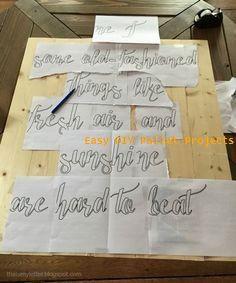 DIY handpainted sign without using vinyl cutting machine DIY handgemaltes Schild ohne Vinylschneidemaschine Diy House Projects, Diy Pallet Projects, Easy Diy Projects, Wood Projects, Diy Pallet Furniture, Diy Furniture Projects, Pallet Ideas Easy, Diy Ideas, Stencil Diy