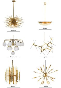 modern chandeliers - round up // smitten studio... Top left!! So cool!