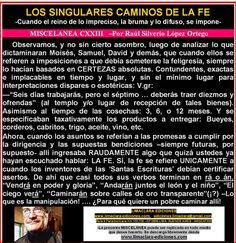 LOS SINGULARES CAMINOS DE LA FE : AUNQUE USTED NO LO CREA!   raulsilveriolope