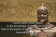 I Would Rather Excel Others In The Knowledge