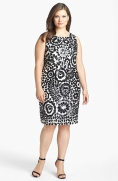 Pisarro Nights Embellished Mesh Sheath Dress (Plus Size) available at #Nordstrom