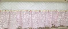 Lace baby girl crib skirt Girl Cribs, Crib Skirts, Valance Curtains, Lace, Home Decor, Interior Design, Home Interior Design, Home Decoration, Decoration Home