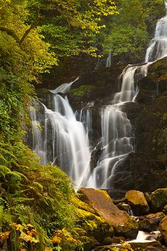 Torc Waterfalls are one of the landmarks on the 200km Kerry Way walking tour and are encompassed in the Killarney National Park.  Photo by Claudio Coppari