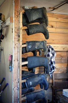 For muddy spring boots. Good idea!!