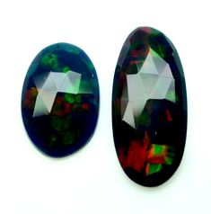 Ethiopian Opal Faceted Flat Opal One Side Cutting Black Opal Lot Loose Gemstone5 #Opalcreation