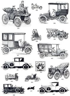 Vintage car illustrations to download FREE.