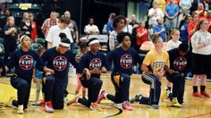 """Being in that together,"""" Fever head coach Stephanie White told the team in a pre-game huddle recorded by ESPN. The Fever went on to lose to the Phoenix Mercury on their home floor at Bankers Life Fieldhouse in Indianapolis by a score of 89 to 78."""