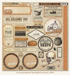 Lost & Found Halloween Paper from My Mind's Eye! Perfect for all your Halloween Decorations!