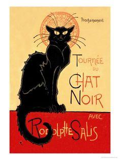 Tournee du Chat Noir Avec Rodolptte Salis Premium Poster