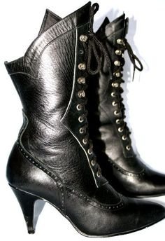Lace-up granny boots, Been searching for actual Edwardian-era boots, but these have the look. I also collect vintage shoe ads