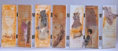 Encaustic, text, pigment on old fence boards Old Fence Boards, Old Fences, Encaustic Painting, Studio, Wall, Artist, Artists, Studios, Walls
