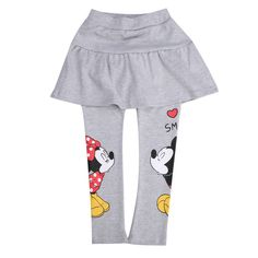 Autumn Winter 2016 kids new arrive fashion girls Minnie Mouse  leggings girls pants childrens trousers girls pantskirt