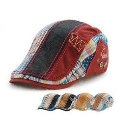 Cotton Washed Buckle Adjustable Newsboy Cabbie Golf Gentleman Cap Beanie  Hats 685bf832622f
