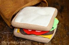Sandwich and Felt Brown Bag ... from 'EvrydayCircus' on Lilyshop for $13.00