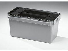 90 Litre Curtec Stack - Nest Attached Lid Container - Lidded Plastic Storage Box