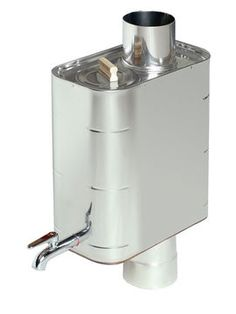 Stovepipe water heater from Harvia, a Finnish sauna company. Want one!!!