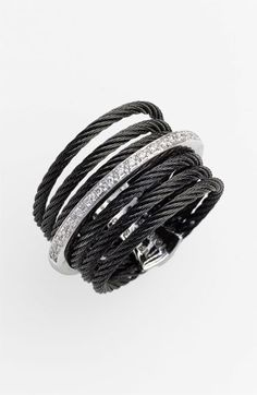 Charriol 'Classique' 7-Row Cable & Diamond Ring | Nordstrom