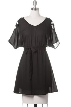You had me at hello, Modcloth Style, Casual, Short Sleeve, Black, Above Knee #ModClothStyle #LittleBlackDress #Casual