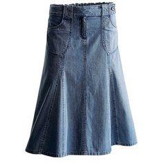 Plus Size Multi seamed skirt at OneStopPlus.com