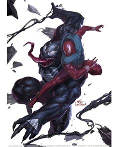 "1,479 Likes, 10 Comments - InHyuk Lee (이인혁) (@leeinhyuk) on Instagram: ""X-Men Red # 3 Venom 30th Anniversary (Venom vs Scarlet Spider)"""