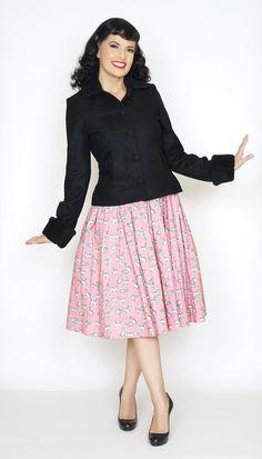 Kitten Black Wool Jacket #1950s-pin-up #50s-dresses #50s-pin-up #bernie-dexter…