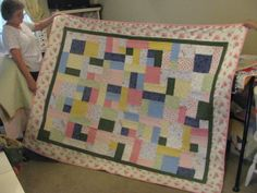 Quilt made by Nancy.  How cute is that?!?