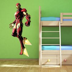 Iron Man Avengers Multi Colour wall art sticker boys bedroom decal Superhero 2 in Home, Furniture & DIY, Children's Home & Furniture, Home Decor | eBay