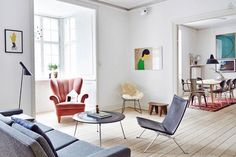 Wohnen in Kopenhagen. #KOLORAT #Wandgestaltung #Wandfarbe #Skandinavien #Skandinvian #Interior #Wohnideen