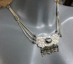Vintage Halsschmuck - Antikes Collier Halskette Silber 925 Hämatit SK496 - ein Designerstück von Atelier-Regina bei DaWanda
