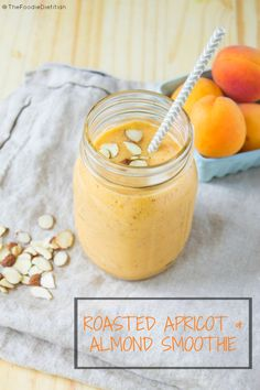 Roasted Apricot Almond Smoothie recipe: sweet, nutty, and refreshing!