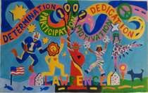 Anti-Bully Mural - Art by Kids for Kids - Lawrence MS - Imagine That! Together We Stand, School Murals, Mural Art, Wall Murals, Leader In Me, Anti Bullying, Ancient Rome, Taking Pictures, Ms