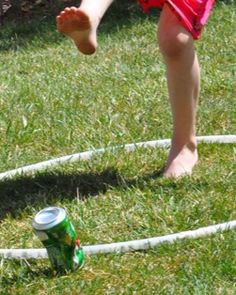 Kick the Can modified for the backyard is one of our favorite family games!
