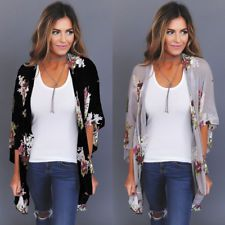 Women Floral Loose Shawl Vintage Kimono Cardigan Boho Chiffon Coat Jacket Blouse in Clothing, Shoes & Accessories, Women's Clothing, Tops & Blouses Vintage Kimono, Vintage Floral, Cardigan Boho, Floral Cardigan, Floral Kimono Outfit, Yellow Cardigan, Long Cardigan, Gilet Kimono, Kimono Blouse