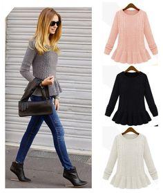 2013 outono e inverno moda saia vintage torção o- pescoço camisola camisola pulôver feminino solta 6 lq5506 cores frete grátis 19.88 - 20.88