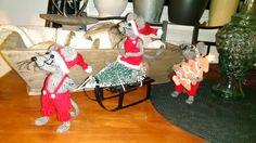 Mine egne julemus, mønster fra http://ihkdesign.blogspot.no/