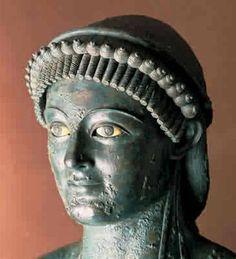 *POMPEII, ITALY ~ Bronze head of a pretty Etruscan girl C.50BC Pompeya, Campania