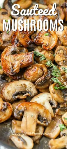 Jan 2019 - Sauteed Mushrooms add rich deep flavor to steak dinners and are delicious alongside chicken dishes. These fried mushrooms with garlic make the perfect quick side dish and are a great.addition to soups, stews and evencooked rice! Steak Sides, Steak Side Dishes, Quick Side Dishes, Dinner Side Dishes, Vegetable Side Dishes, Side Dish Recipes, Veggie Recipes, Healthy Recipes, Side Dishes For Chicken