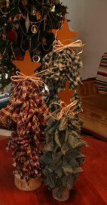 Rag Christmas Trees
