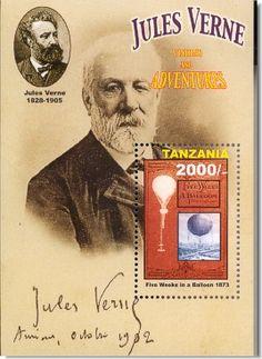 Jules Verne Briefmarken Block