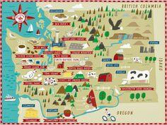 illustrated map of Washington by Nate Padavick