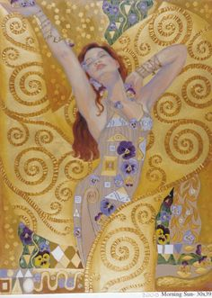"""""""The soul that is united & transformed in God breathes God in God with the same divine breathing with which God, while in her, breathes in himself. John of the Cross ♥ Beautiful Art by Irina Karkabi - Goddess Energy Gustav Klimt, Klimt Art, Arte Pop, Art And Illustration, Figure Painting, Painting & Drawing, Painting Tools, Painting Canvas, Texture Painting"""