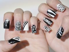 Black Nail Designs: Amazing Black White Design Ideas For Nails ~ Nail Colors Inspiration