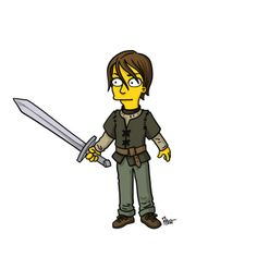"Arya Stark | More ""Game Of Thrones"" Characters Drawn As ""The Simpsons"""