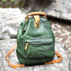 Handmade Genuine Leather Handbag Messenger Casual Backpack Satchel 14107